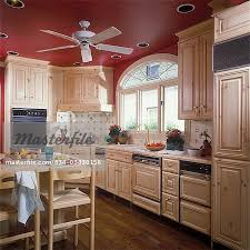 work area lighting. KITCHEN - Work Area, Island. Light Wood. Sink, Window With Palladian, Recessed Lighting Ceiling Fan , Red Painted Ceiling, Tile Backsplash, Wood Floors, Area 4