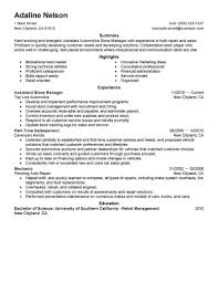 Resume For Store Manager Assistant Store Manager Resume Sample Manager Resumes LiveCareer 8