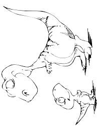 Small Picture Cartoon Dinosaur Coloring Page Free Printable Coloring Pages
