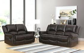 abbyson living sofa living 2 piece faux leather reclining sofa and chair abbyson living bliss leather