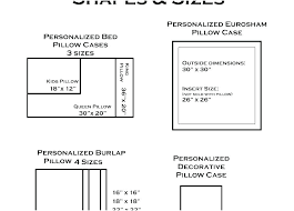 Pillow Size Chart Decorarsyil Co