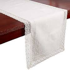 Furniture runners Tablecloth Bee Willow Home Crochet Trim Table Runner In Natural Bed Bath Beyond Table Runners Lace Linen Table Runners Bed Bath Beyond