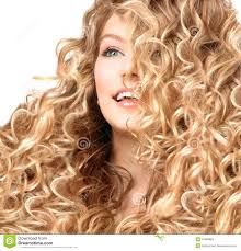 Perm Hair Style smiling girl with blonde permed hair stock photo image 41395820 7797 by wearticles.com