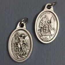 details about 3 4 saint st michael the archangel guardian angel medal pendant silver tone