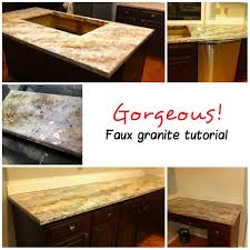 Imitation Granite Countertops Kitchen Faux Sho Painted Granite Countertops Scharlerama