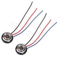 4x 1157 1158 2057 2357 plug wiring harness sockets for turn signal 2x 1157 2057 2357 socket plug harness wiring for front turn signal