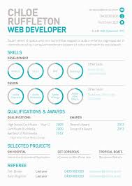 Web Developer S Resume With Mini Info Graphs By Melissa Mcarthur