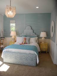 blue grasscloth wallpaper transitional girl s room