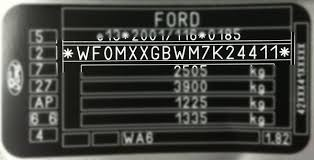 Ford Paint Code Location Where Is My Ford Paint Code Located
