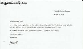 Letter Invitation Personal Letters