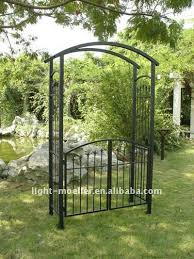 Small Picture Metal Arbor Laurel Garden Arbor With Gate Trellis With Gate