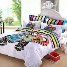 elephant bedding twin colorful striped kids cartoon comforter sets bedroom children for queen size bedspread bed