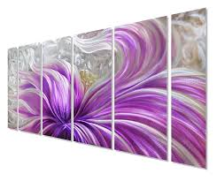 purple flower metal wall art intended for most up to date pure art purple