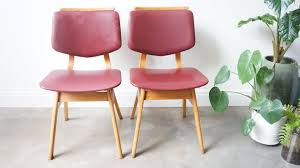 Image Living Room Furniture Pamono Midcentury Red Skai Dining Chairs Set Of