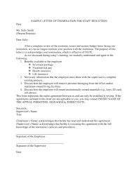 job termination letters termination letter samples