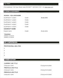Blank Resume Template Pdf Extraordinary Resume Pdf Templates Eukutak
