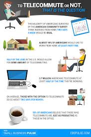 infographic to telecommute or not that is the question small infographic to telecommute or not that is the question small business pulse