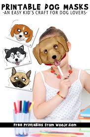 These are great for using markers and crayons to color! Printable Dog Masks In 6 Different Breeds Woo Jr Kids Activities