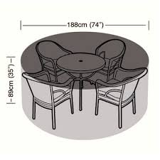 cover up 4 6 seater circular patio set cover 188cm