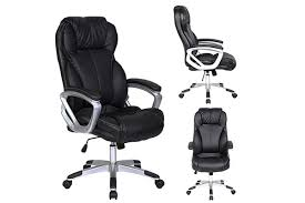 Simple Desk Chair For Back Pain Deluxe Professional Pu Leather Office With Decorating