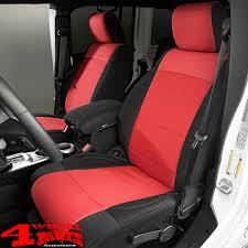 seat covers pair neoprene front black