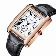 <b>2019</b> New <b>Fashion Square Men</b> Wristwatch Genuine Leather ...