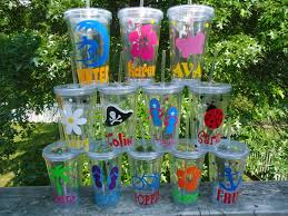 Decorating Plastic Tumblers 6 Personalized Acrylic Tumblers New Summer Designs At The Pool Or