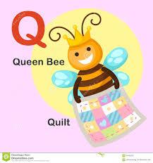 Illustration Animal Alphabet Letter Q-Quilt,queen Bee Illustration ... & Illustration Animal Alphabet Letter Q-Quilt,Queen bee Adamdwight.com