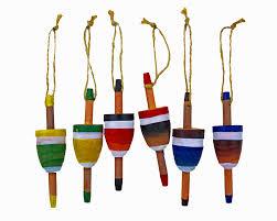 4 5 h set of 6 wooden hanging buoy figures 10 95