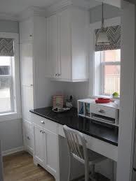 office in kitchen. home office in kitchen