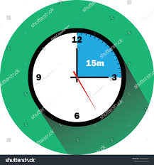 Timer Fifteen Minutes Clock Timer Fifteen Minutes Stock Vector Royalty Free