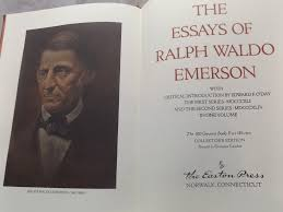 leather bound gilded book auction features easton press in lot 17 the essays of ralph waldo emerson