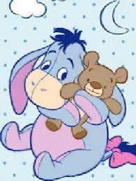 baby eeyore wallpaper. Fine Eeyore Baby Eeyore With His Teddy Bear  To Wallpaper