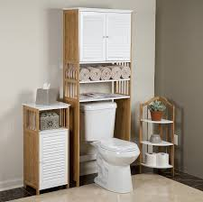 bathroom cool over the toilet double door space saver cabinet