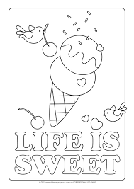Small Picture Ice Cream Cone Coloring Page Coloring Coloring Pages