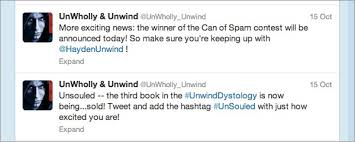 fan symone powell is in charge of the unwholly unwind twitter account