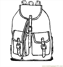 Small Picture Backpack 10 Coloring Page Free School Coloring Pages