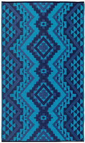 fab habitat indoor outdoor rug santa fe teal 4 x 6 by fabhabitat on dot bo
