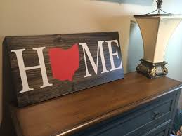 home wood sign custom ohio state sign wood sign rustic
