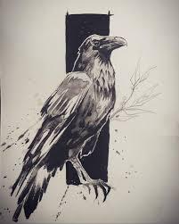 пин от пользователя Salimov Ildar на доске тату Pinterest Raven