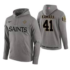 Wordmark Saints Alvin Orleans New Gray Hoodie Circuit Kamara 41 Player