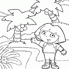 Small Picture Dora the explorer coloring Dora Backpack lost in forest free