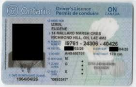 Card ontario Canada License Functional Driver's Licence Licences driving Col Canada ca-dl-002 Drivers