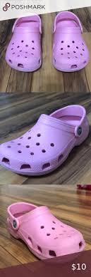 Light Pink Kids Crocs Size J1 Light Pink Used Crocs Size