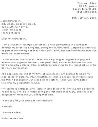 Sample Law Firm Cover Letter Lawyer Cover Letter Sample Cover Letter