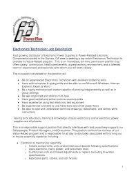 Fantastic Production Line Job Description Resume Gallery Entry