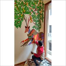 painting on the wallGond Painting on Wall  Gond Painting on Wall Exporter Service