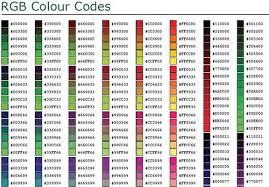 Rgb Hex Chart Image Detail For Rgb Hex Colour Chart Pdf Web Development
