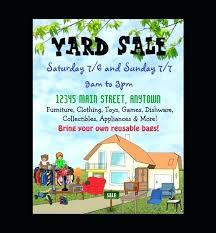 Best Yard Sale Flyer Templates Word Free Premium
