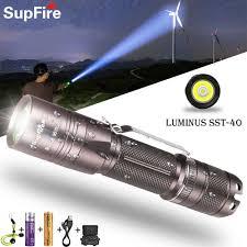 Đèn Pin Supfire Đèn Pin Cao Cấp Leo Núi Từ Xa Đèn Pha Tìm Kiếm USB Sạc Đèn  Pin LED Glare Tự Vệ Đèn Pin Đèn Flash & Đèn Pin